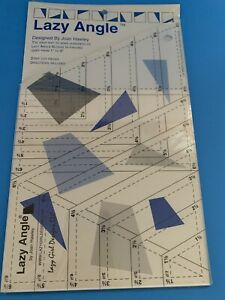 New LAZY ANGLE Quilting Ruler JOAN HAWLEY Make Blocks 1 6quot; Directions Included $13.99