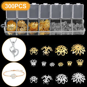 300PCS Mixed DIY Jewelry Making Charms Wholesale Tibetan Flower Bead Caps Spacer