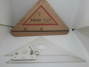 Tacro 10quot; adjustable square triangle with box made in England #4456 $20.99