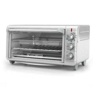 BLACKDECKER Extra Wide Crisp N Bake Air Fry Toaster Oven Silver