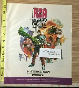 RZA As Bobby Digital In Stereo The Instrumentals 1999 Promotional Print AD $11.95