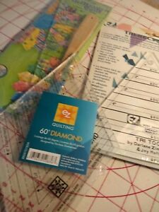 QUILTING RULERS 4 RULERS NEW UNOPENED DRESDEN SET DIAMOND TRI REC TOOLS $15.95