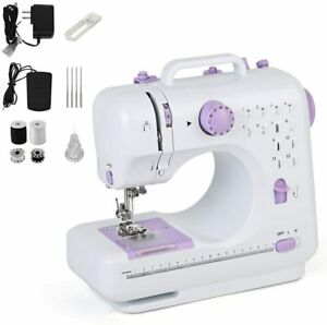 Portable Electric Small Sewing Machine 12 Stitches Household Tailor US 2 Speed $49.96