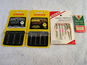 Lot Of Singer Needles Machine and hand 14 in all NOS items $5.99