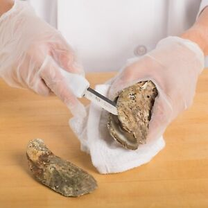 Choice 3 White Boston Style Oyster Knife w Hourglass Handle