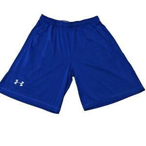 Under Armour XL Mens Shorts Basketball Gym Run Solid Blue Inseam 10 In X Large $16.16