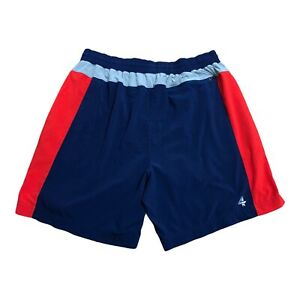 Fourlaps Mens Running Shorts Size Large Blue Red Inseam Pockets Lined $39.95