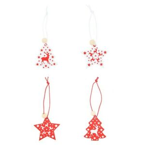 1 set Christmas Pendant Wooden Lovely Christmas Ornament for DIY Crafts
