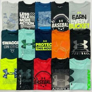 Boy#x27;s Youth Under Armour Heat Gear Loose Polyester Shirt