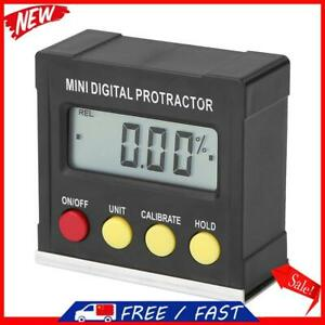 360° Magnetic Digital Inclinometer Level Box Gauge Angle Meter Finder Protrac S1 $13.74