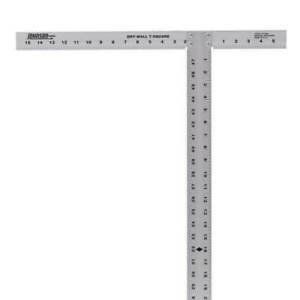 48 in. Aluminum Drywall T Square Measuring and Layout Hand Tools Workshop Home $19.90