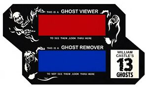 WILLIAM CASTLE GHOST VIEWER FOR 13 GHOSTS AND OTHERS ILLUSION O VIEWER $9.95