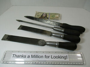 4 Old Machine Way Scraper Hand Tools Look Homemade From Files Hayes VGC $71.97