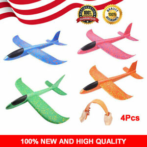 4x Hand Launch Throwing Glider Airplanes Foam Airplane Model Not Remote Control