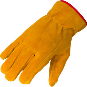 Kids Leather Work Gloves Soft Suede Cowhide Leather Sizes for ages 3 14 $9.99