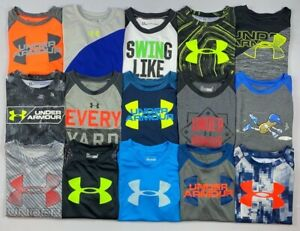 Boy#x27;s Little Youth Under Armour Short Sleeve Polyester Shirt