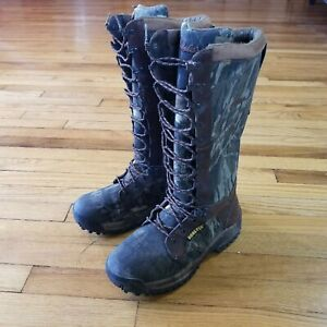 Cabelas Gore Tex Camo Boots Mens Camouflage Hunting Boots High Top US 8.5 D