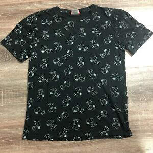 2017 PEANUTS SNOOPY LICENSED GRAPHIC TEE T SHIRT MENS USED BLACK SIZE S