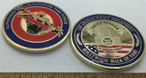 challenge coin lapd Spiderman police Hollywood $6.00