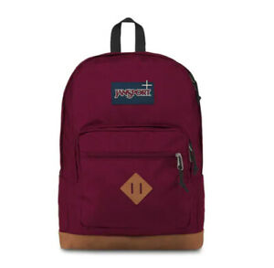 JanSport City View Laptop Backpack Russet Red NWT 100% Authentic