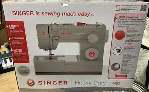 New Singer Heavy Duty 4452 Sewing Machine with 32 Built In Stitches Dmg Box $188.99