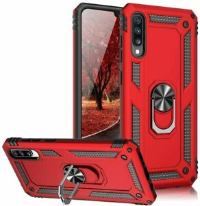 For Samsung Galaxy A30 A50 Ring Cover Stand Shockproof Impact Resistant Case $6.49