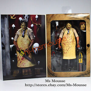 NECA Texas Chainsaw Massacre Leatherface 7quot; Action Figure 40th Anniversary Doll
