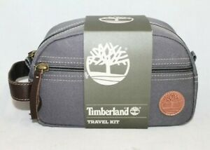 NWt $48 TIMBERLAND Travel Kit NP0349 30 in Grey Canvas $29.99