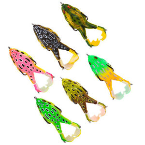 6 PCS Double Propellers Frog Lures Weedless Top Water Bass Bustin Fishing Hook