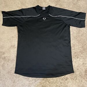 Nike Soccer T Shirt Adult Xl Black Athletic Performance Outdoor Mens Used Y74