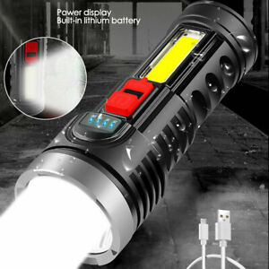 Super Bright 200000LM LED Tactical Flashlight Torch Rechargeable Camping Lantern