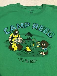 Vintage 100 Year Camp Reed It#x27;s The Best Camping T Shirt RARE Tee Size Large