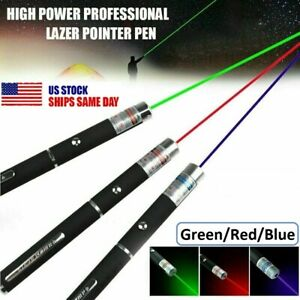5mW 900 Mile Green Blue Red Light Visible Beam Lazer Strong Laser Pointer Pen US $7.81