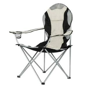 Medium Camping Folding Chair Outdoor BBQ Beach Fishing Seat w Cup Holder US New