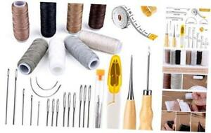 30 Pieces Leather Sewing Kit Leather Sewing Upholstery Repair Kit with 8 $16.86