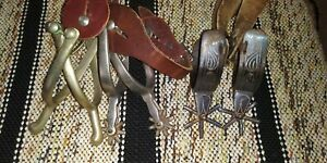 Lot of 3 pairs of Vintage Spurs