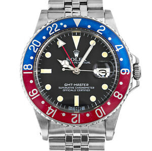 Rolex 16750 GMT Master Pepsi Matte Dial Box 1979 Automatic Stainless Steel Watch