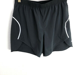 Womens Nike Running Shorts Size Extra Small With Built In Underwear Black $9.99