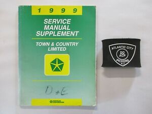 1999 CHRYSLER TOWN COUNTRY LIMITED SERVICE SHOP REPAIR MANUAL SUPPLEMENT $9.97
