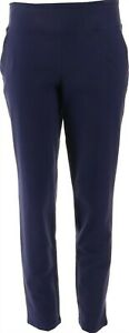 Women with Control Tushy Lifter Ankle Pants with Pockets Eclipse M NEW A353132