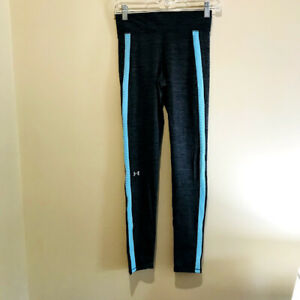 Womens Under Armour Cold Gear Leggings with Waist Pocket Gray Teal XS $19.99
