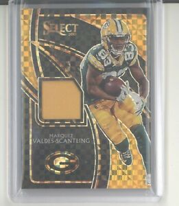 Marquez Valdes Scantling jersey card 10 2019 Panini Select gold prizm NM edge $19.99