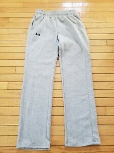 Under Armour Cold Gear Gray Sweat Pants Fleece Size Small Excellent Condition $17.99