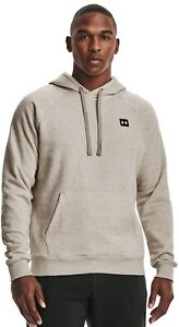 Under Armour Hoodie Mens Large New Rival Woven Patch Fleece Sweatshirt Cold Gear $17.99