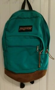 Jansport Vintage 90#x27;s Backpack with Suede Bottom Teal New without Tags