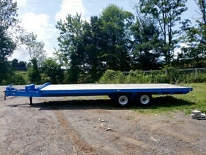 8amp;#39;x20amp;#39; Foot Tandem Axle Flatbed Utility Trailer With Air Brakes