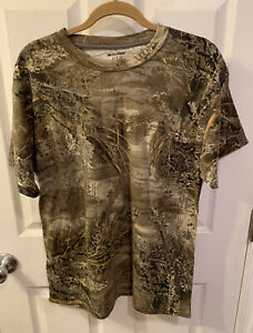 Men#x27;s Real Tree Camouflage T Shirt Size Large hunt shirt top outdoors