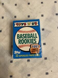 TOYS R US BASE BALL ROOKIES 1991 COMPLETE COLLECTORS SET $8.00