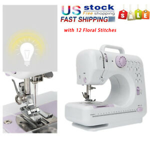 Portable Sewing Machine Electric Crafting Mending Machine 12 Built In Stitches $44.39