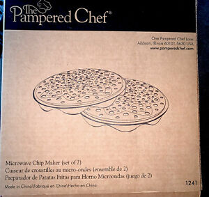 2 BRAND NEW IN BOX Pampered Chef Microwave Chip Maker 1241 FREE SHIP